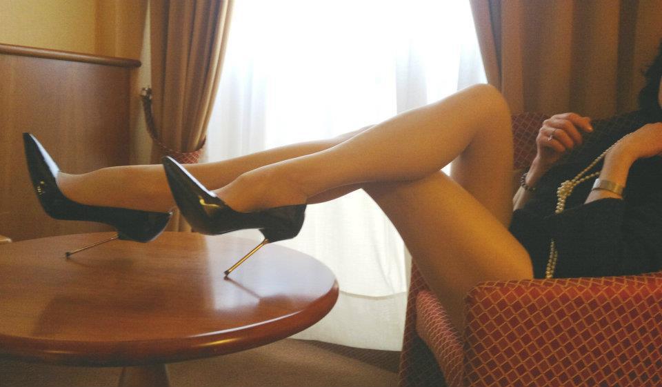 scarpe fetish indossate