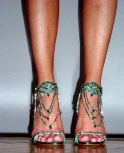 sandali caovilla verde smeraldo