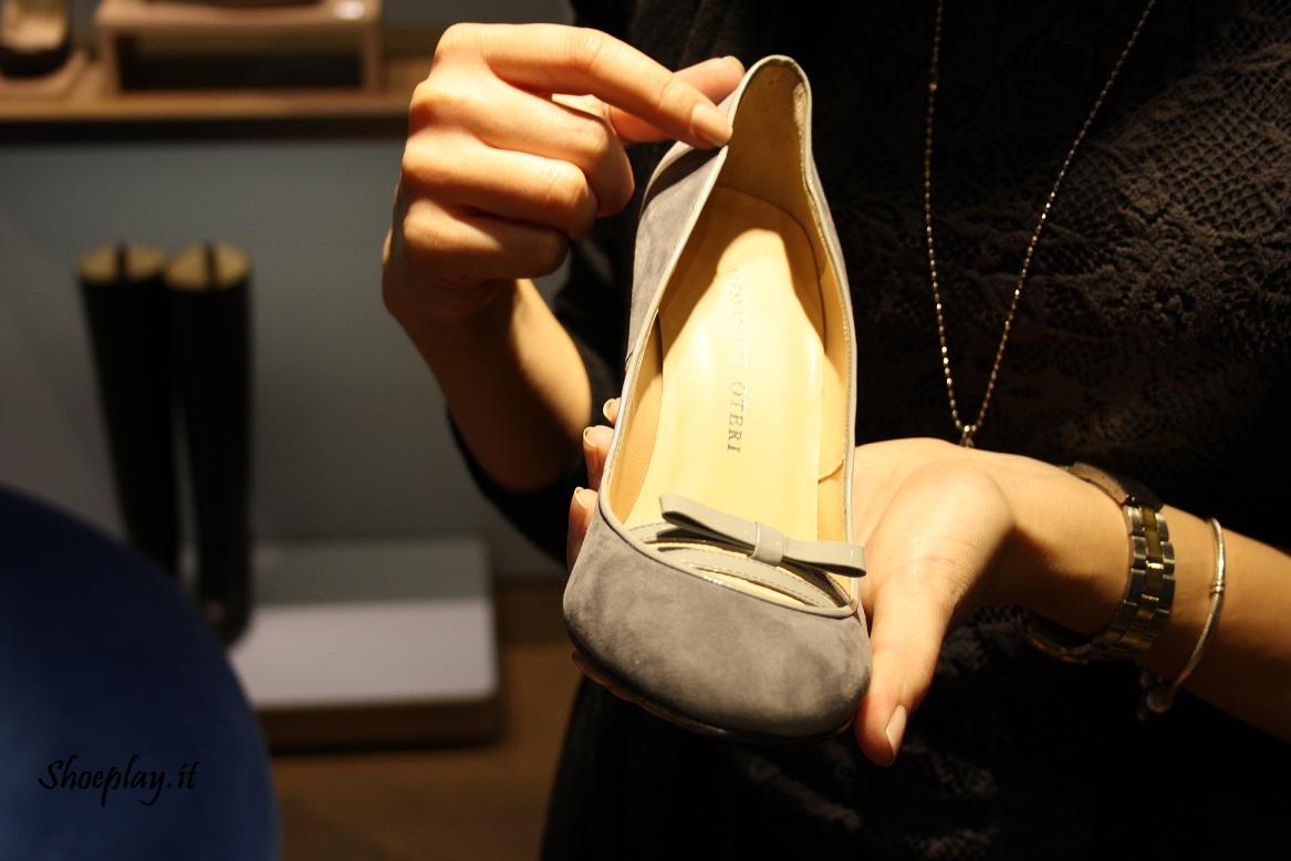 scarpe alessandro oteri decolletè punta tonda doppio fiocco
