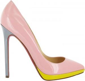 louboutin scarpe tacco alto rosa