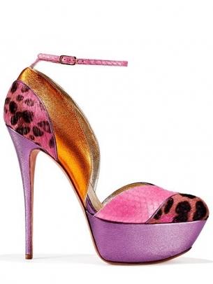 scarpa lilla rosa animalier tacco altissimo gaetano perrone 2013