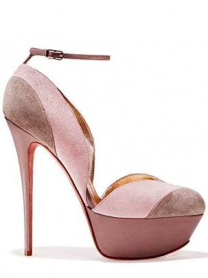scarpa rosa tenue tacco altissimo plateau gaetano perrone 2013