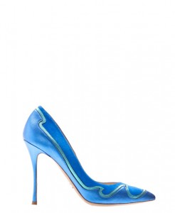 scarpe kirkwood tacco a spillo a punta fetish scarpe blu turchese