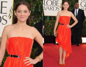 cotillard golden globes 2013 shoes