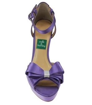 Belle of the Ball - Lavender Silk Peep Toe Platform