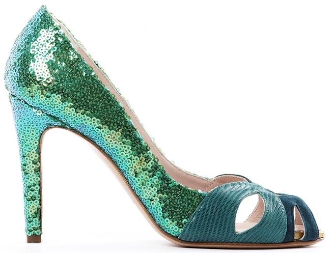 de siena scarpe verde smeraldo