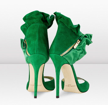 Jimmy Choo - Katarina - Emerald Satin and Suede Sandals - JIMMYCHOO.COM