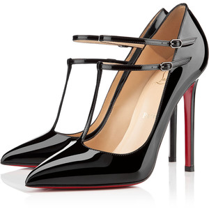 louboutin v neck pump