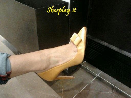 decolletè gialle zara yellow pumps 2013