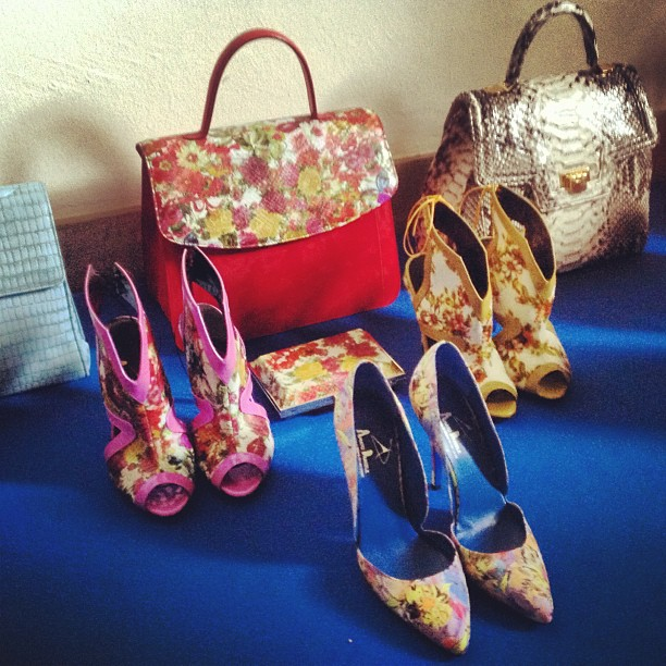 daniele amato SS 2014 floral pumps