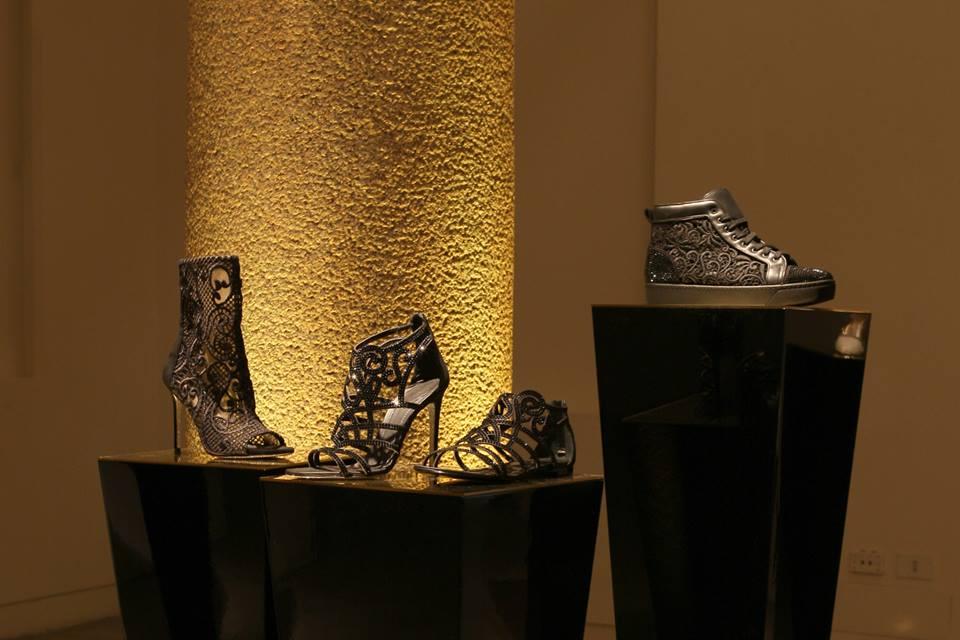 caovilla SS 2014 dark black heels jewel shoes