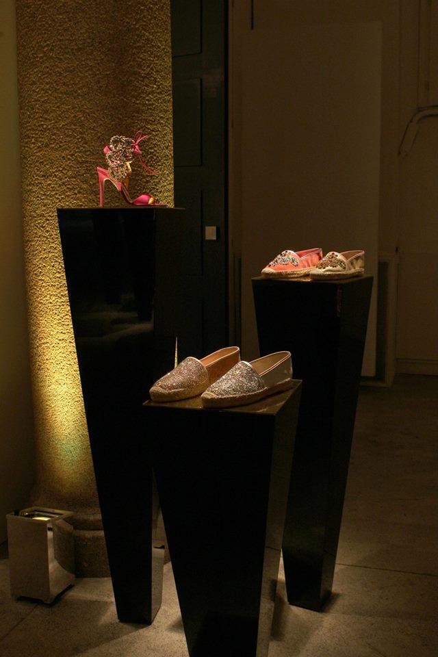 caovilla SS 2014 pink fuchsia heel jewel shoes