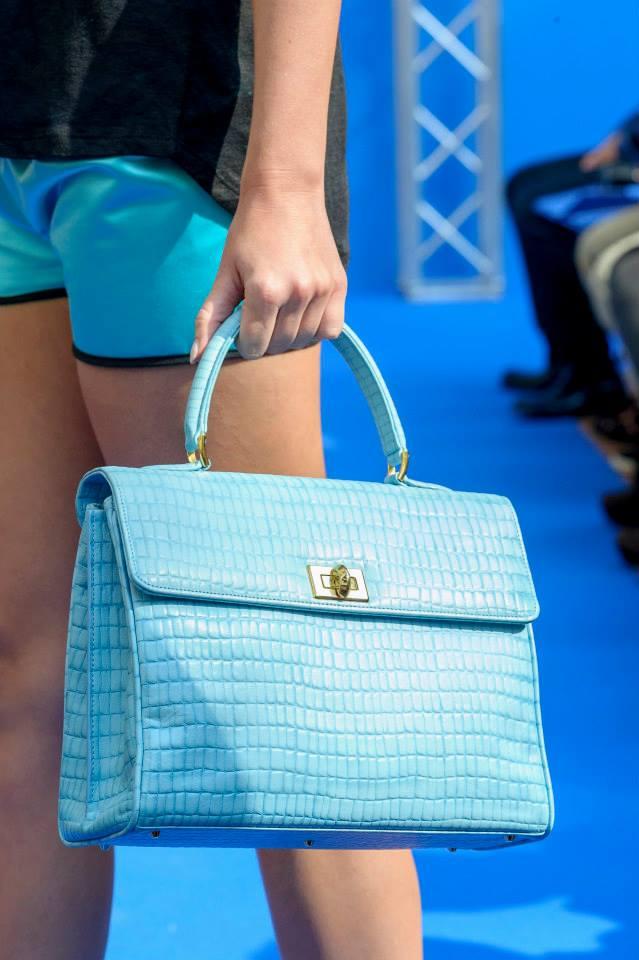 daniele amato SS 2014 turquoise croc bag