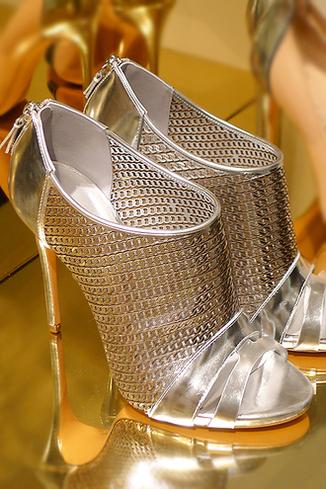 casadei SS 2014 silver bootie