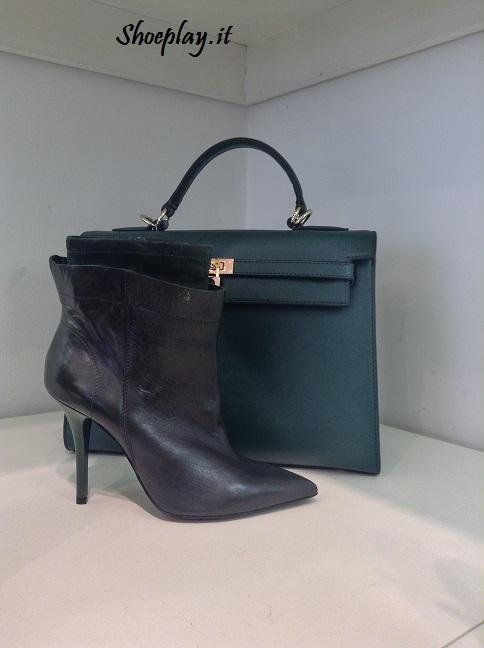 borsa e stivali verdi cinti 2013