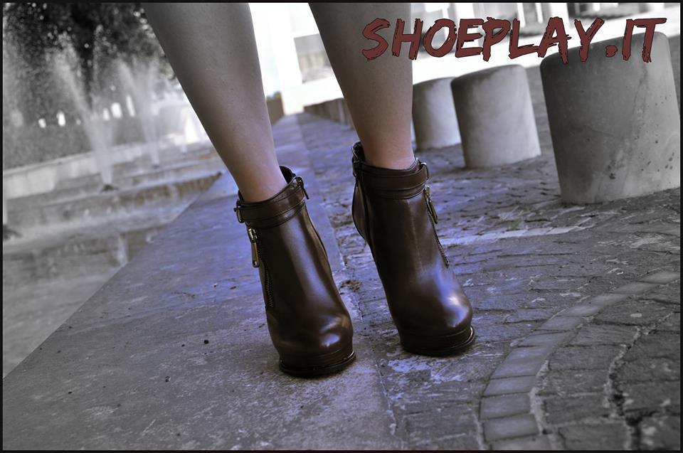 ankle boots marroni pittarello rosso 2