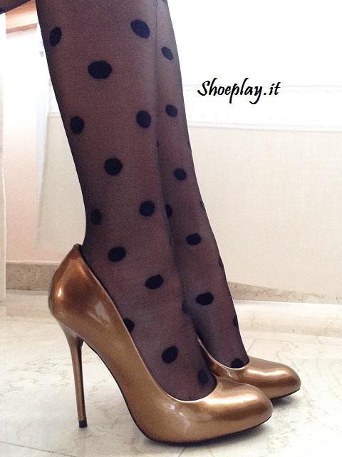 scarpe primadonna tacco alto bronzo