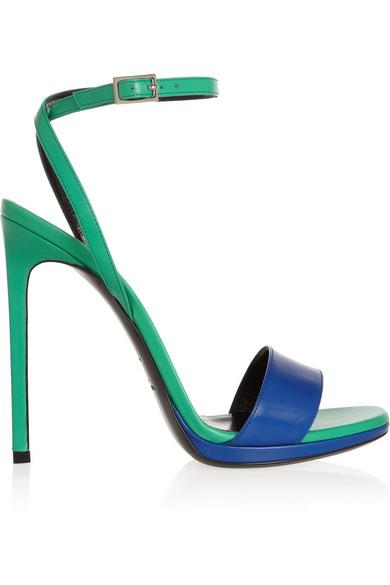 saint laurent sandali 2014 green and blue