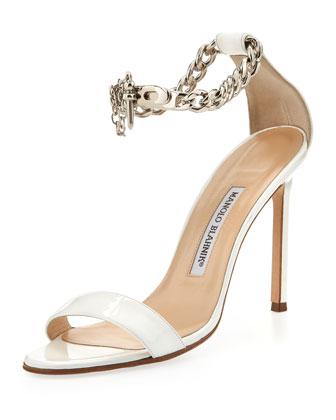 manolo blahnik chain sandals 2014