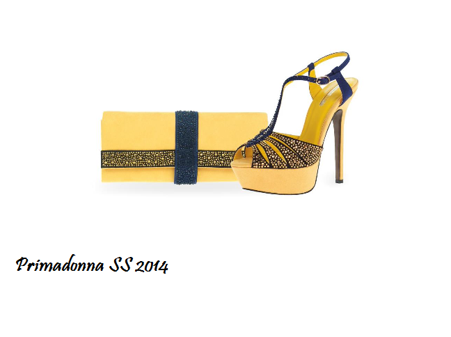 sandali gialli e blu