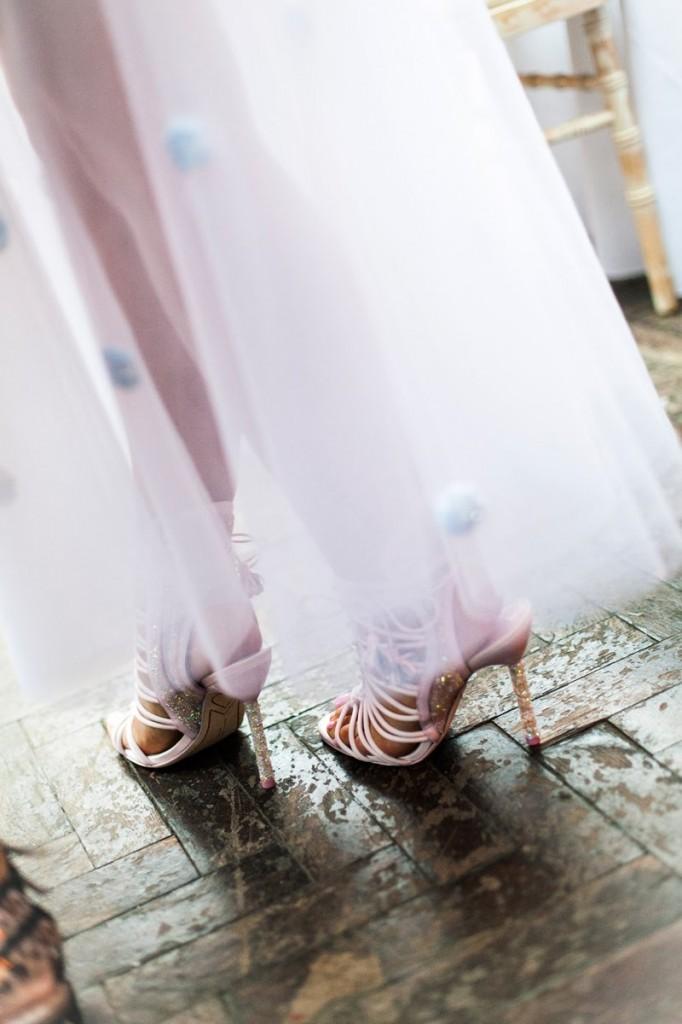 Sandali oro rosa
