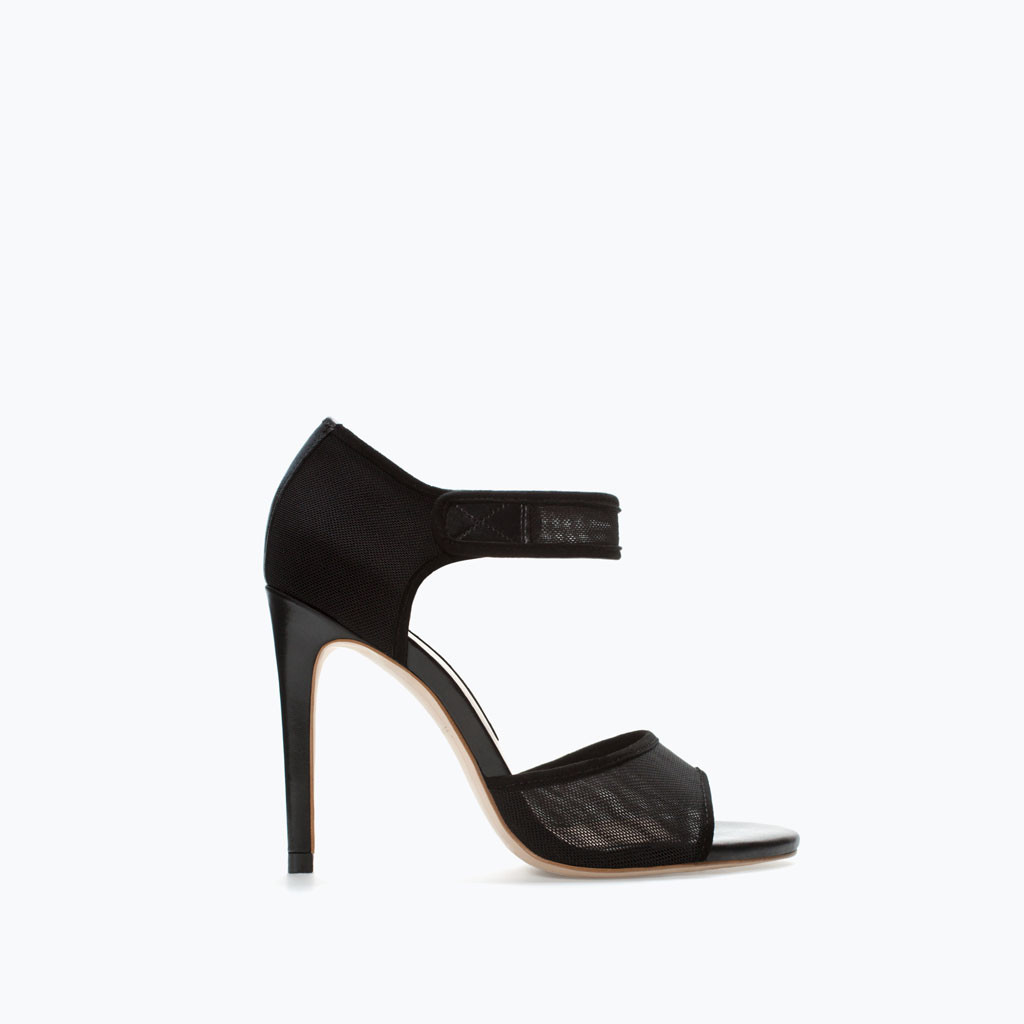 zara pre fall 2014 mesh heels