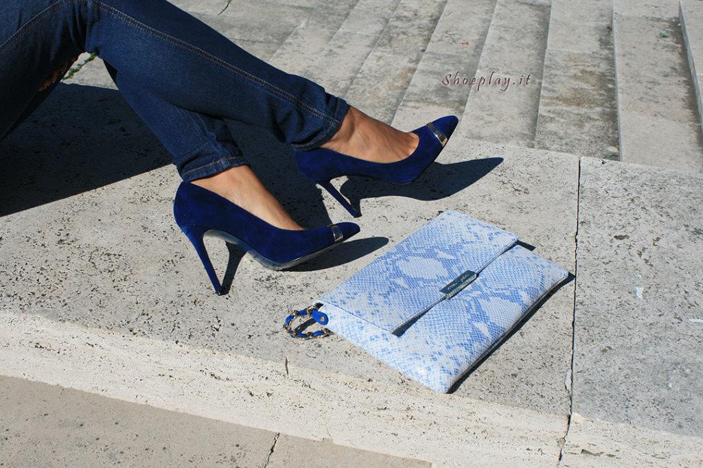 scarpe cinti blu