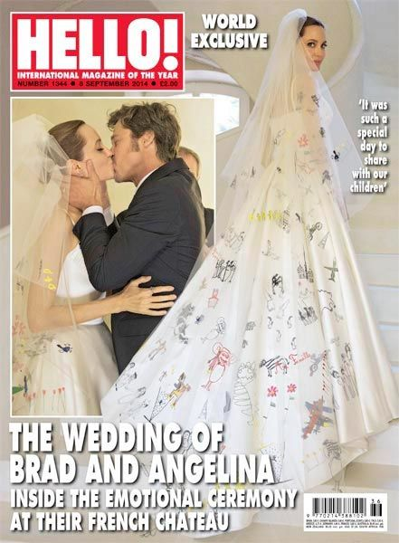 vestito da sposa di Angelina Jolie
