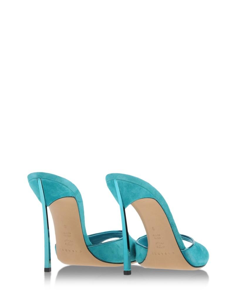 sandali mules tacco alto