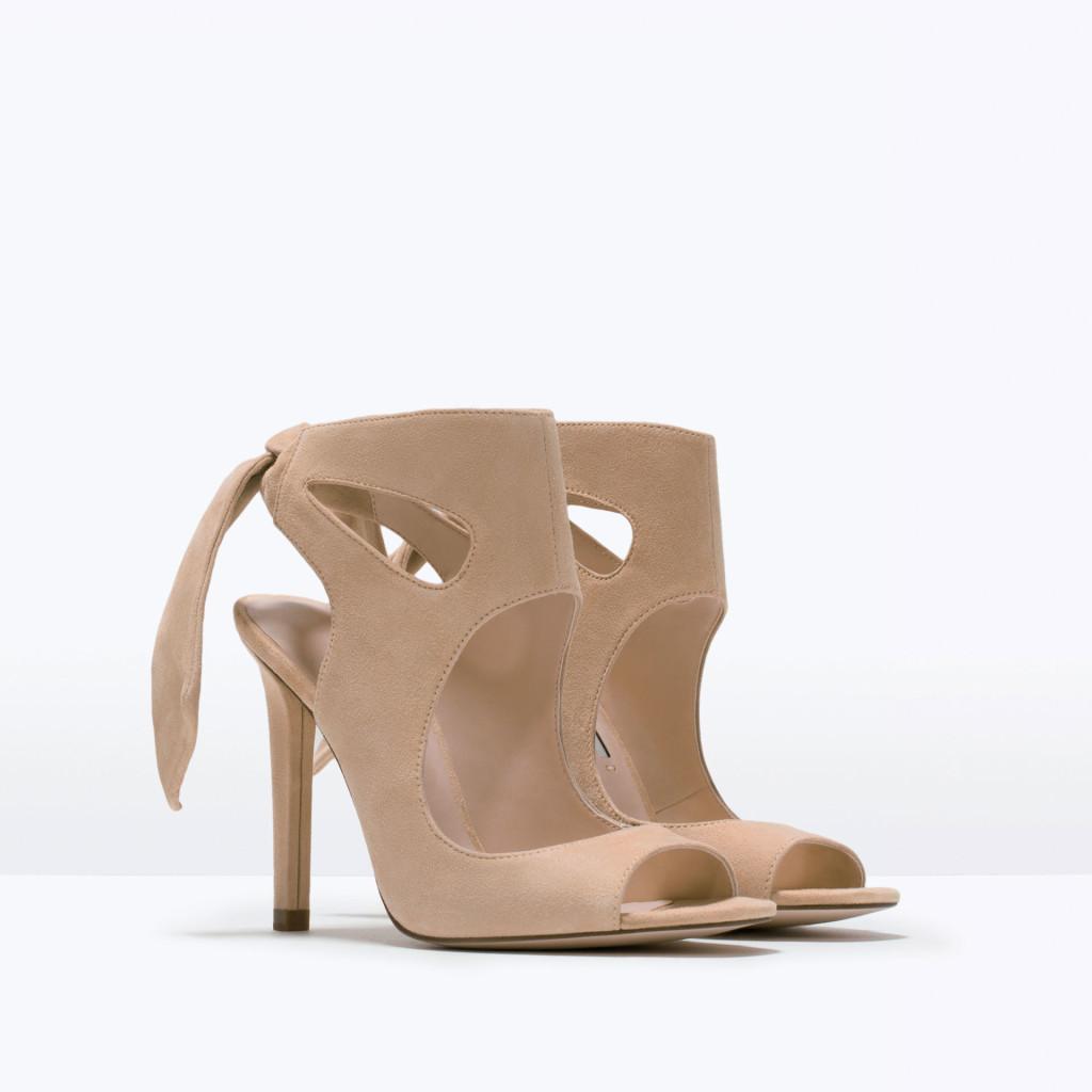 sandali zara fiocco