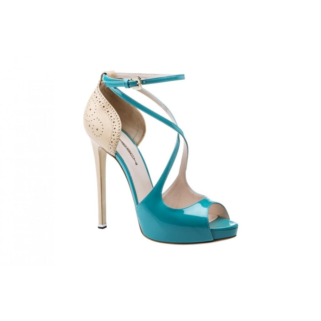 sandali tacco alto azzurro