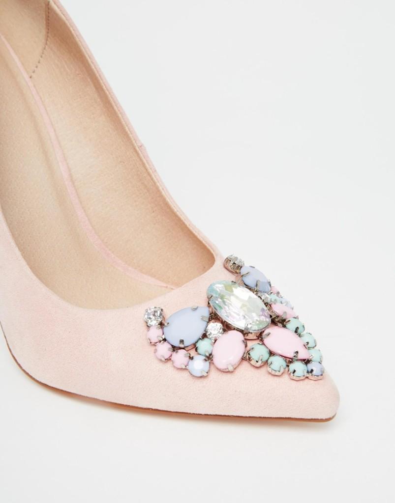 scarpe gioiello rosa