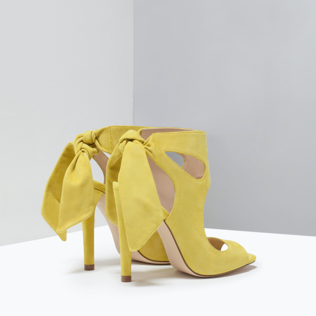scarpe gialle zara