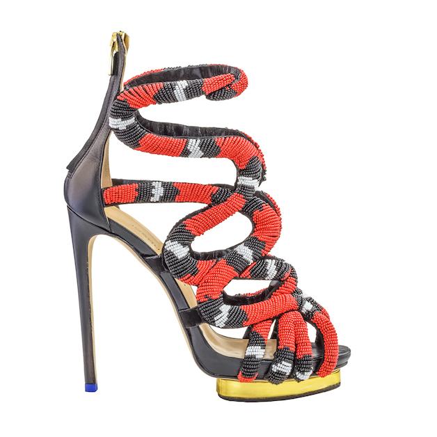 sandalo serpente corallo