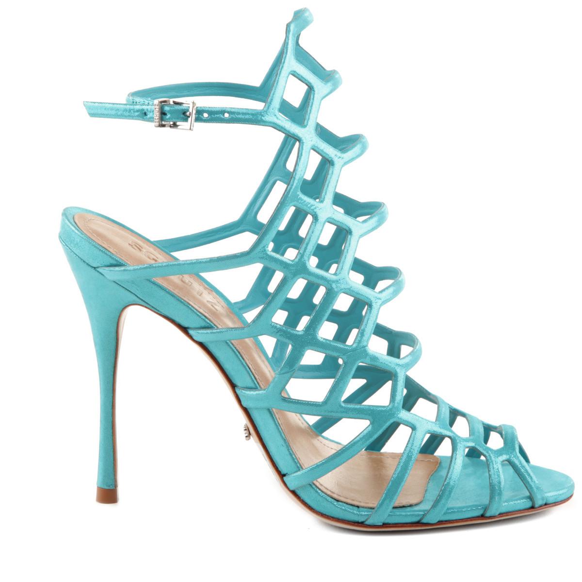 nuovo concetto bbf06 f9f50 Sandali azzurri a gabbia Schutz || Shoeplay.it