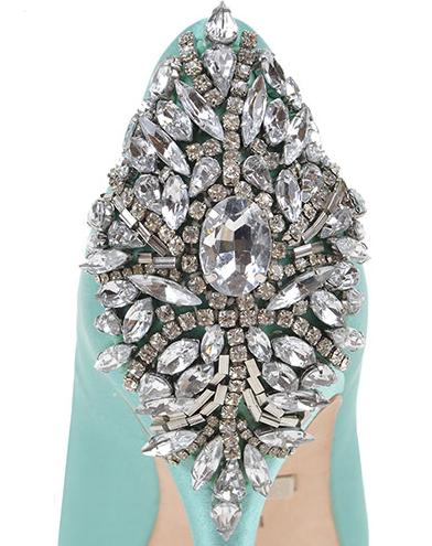 Scarpe Da Sposa Verde Tiffany.Scarpe Azzurro Tiffany Calzature Da Sposa Spettacolari