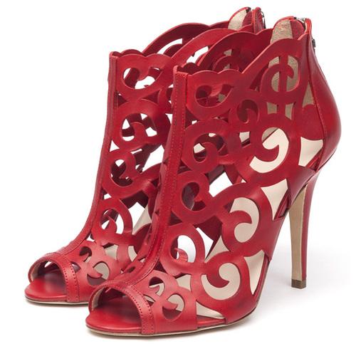 sandali rossi tacco alto