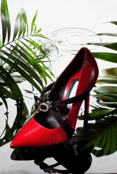 scarpe gioiello rosse