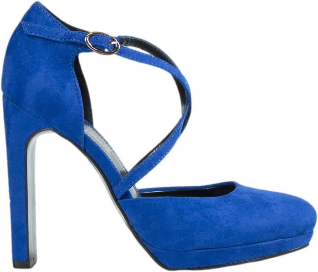 scarpe blu elettrico