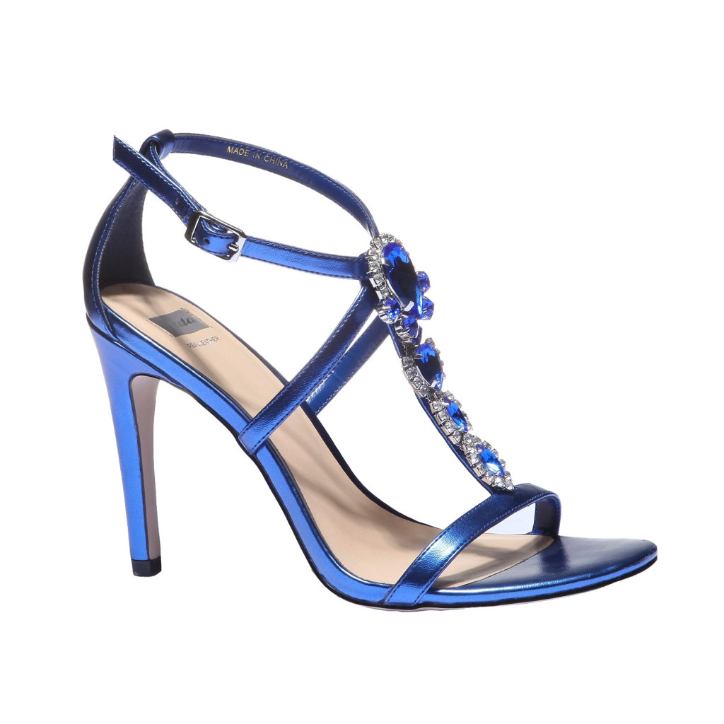 sandali gioiello blu