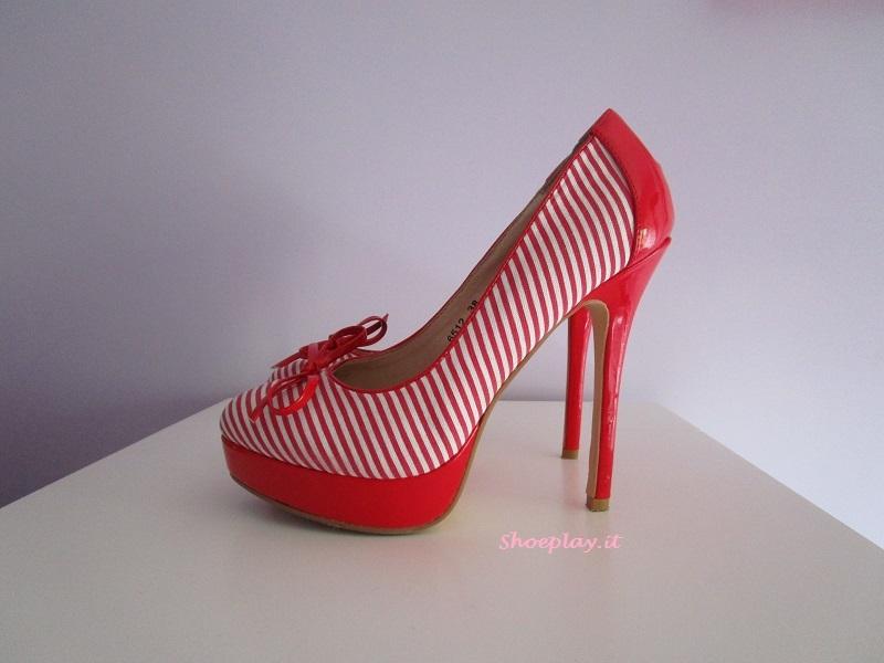 scarpe rosse plateau