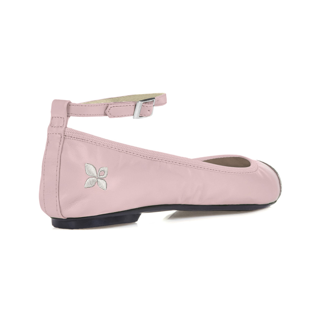 ballerine rosa argento