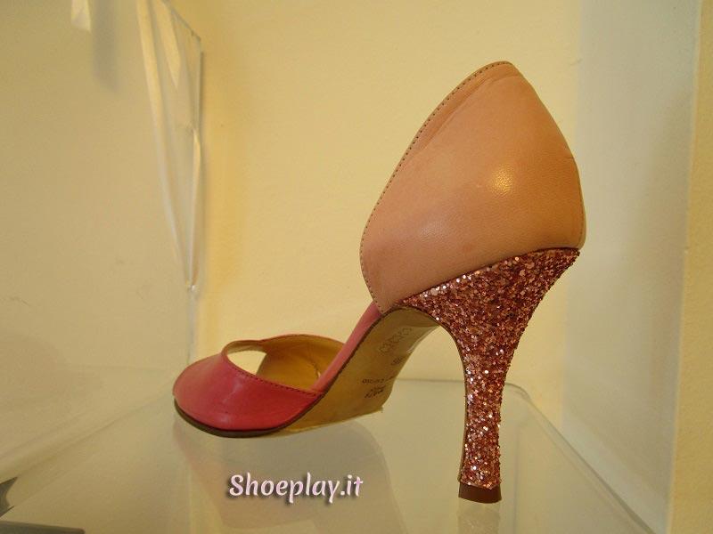 scarpe rosa glitter