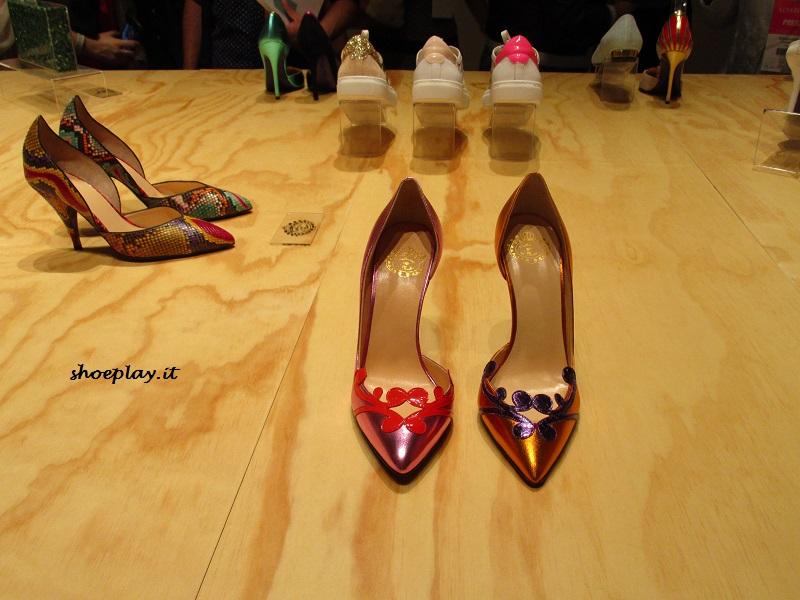 scarpe colorate tacco alto