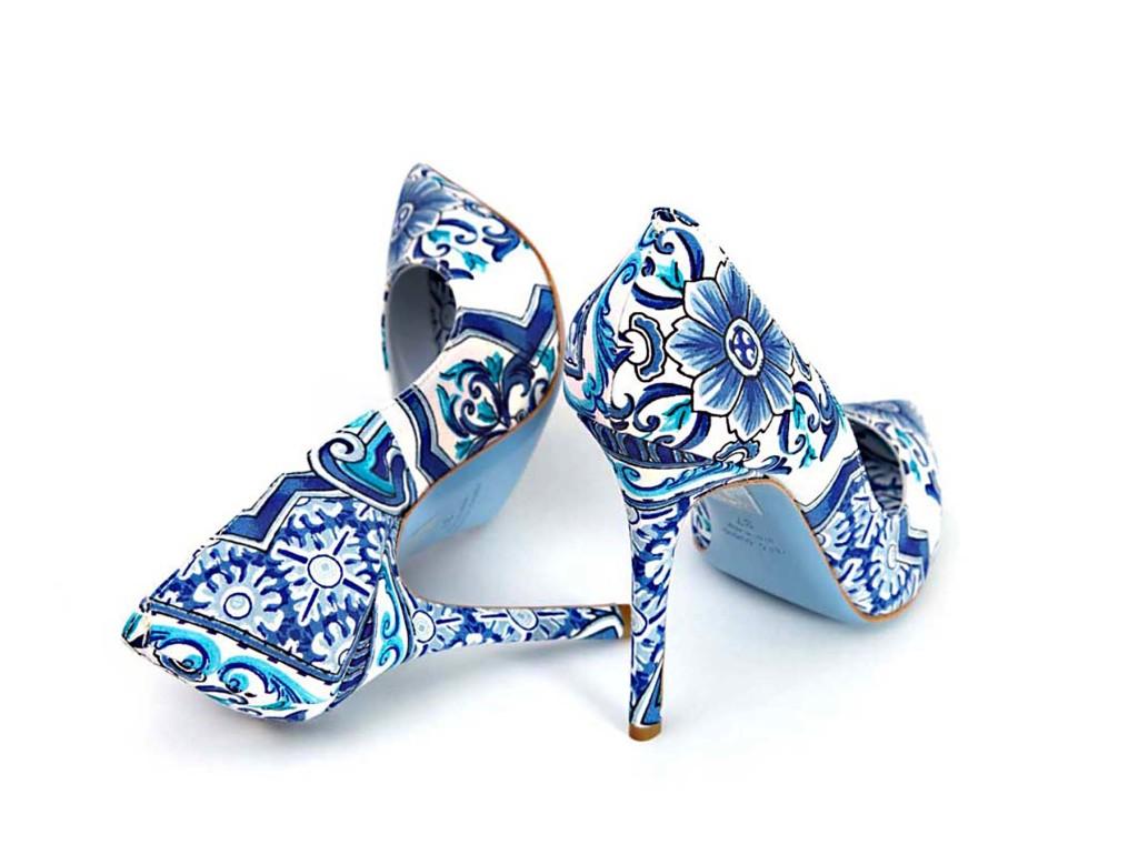 scarpe stampa tovaglia