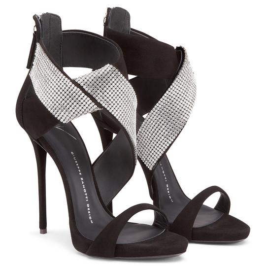 Sandali gioiello Giuseppe Zanotti Design  cascata di strass e tacchi ... 5022f41464e