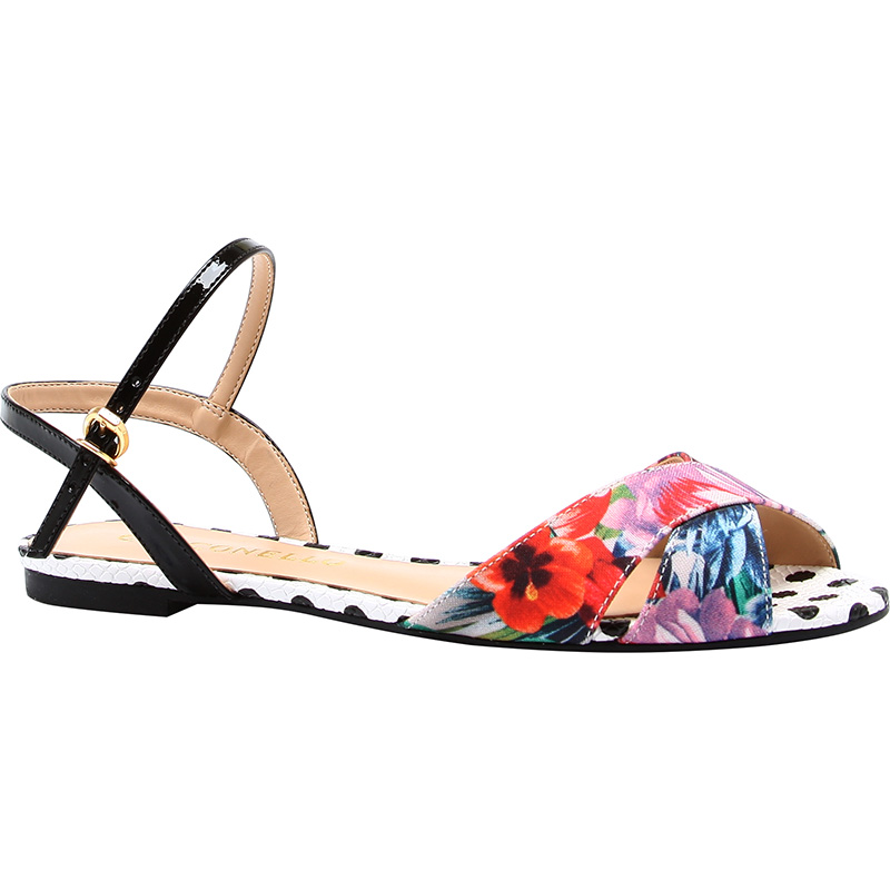 sandali bassi floreali 2016