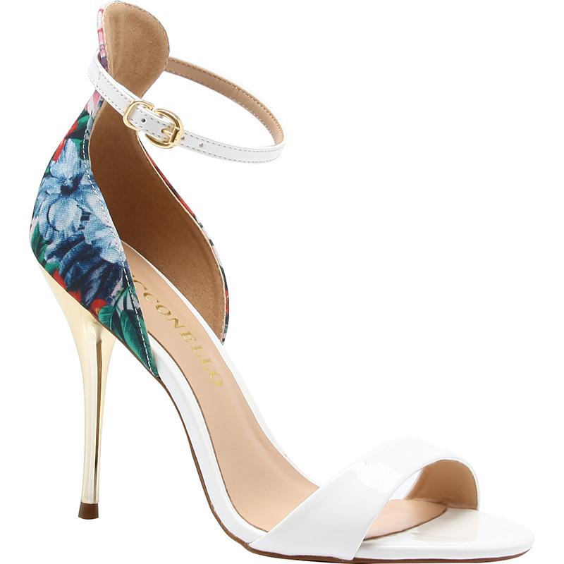 sandali bianchi e blu cecconello