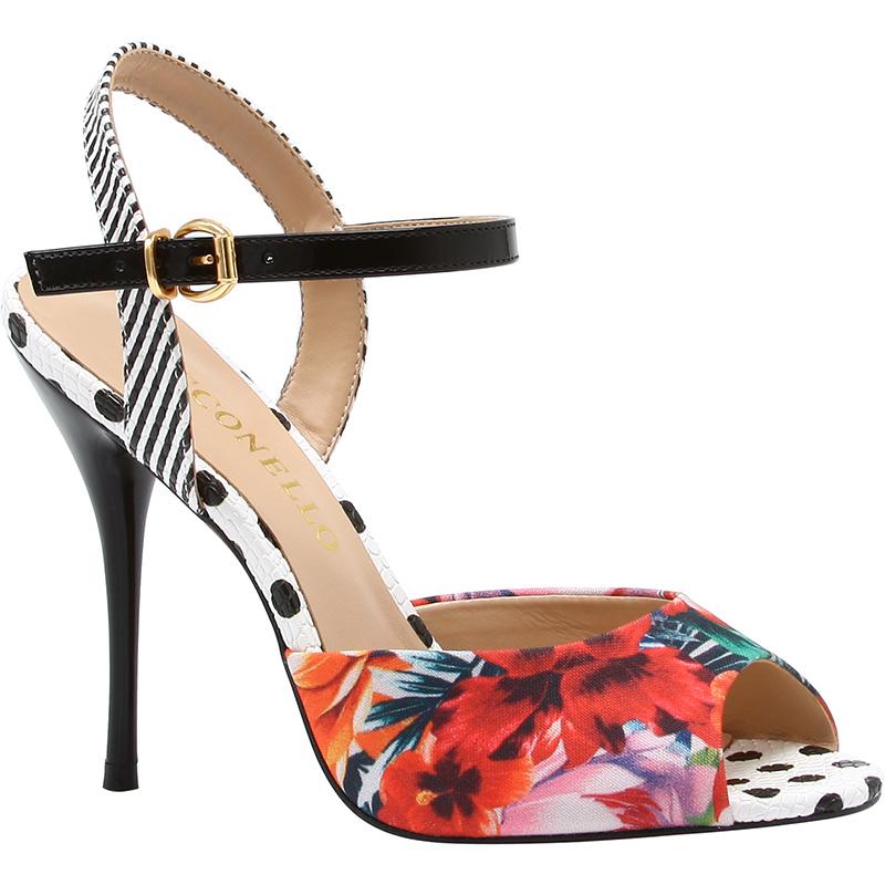 sandali floreali cecconello