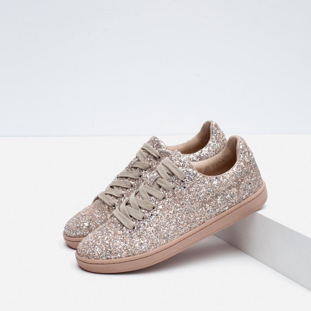 sneakers glitter zara